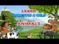 Learn Animal Names For Kids In English Domestic Animals Wild Animals For Children VIRAL ROCKET mp3