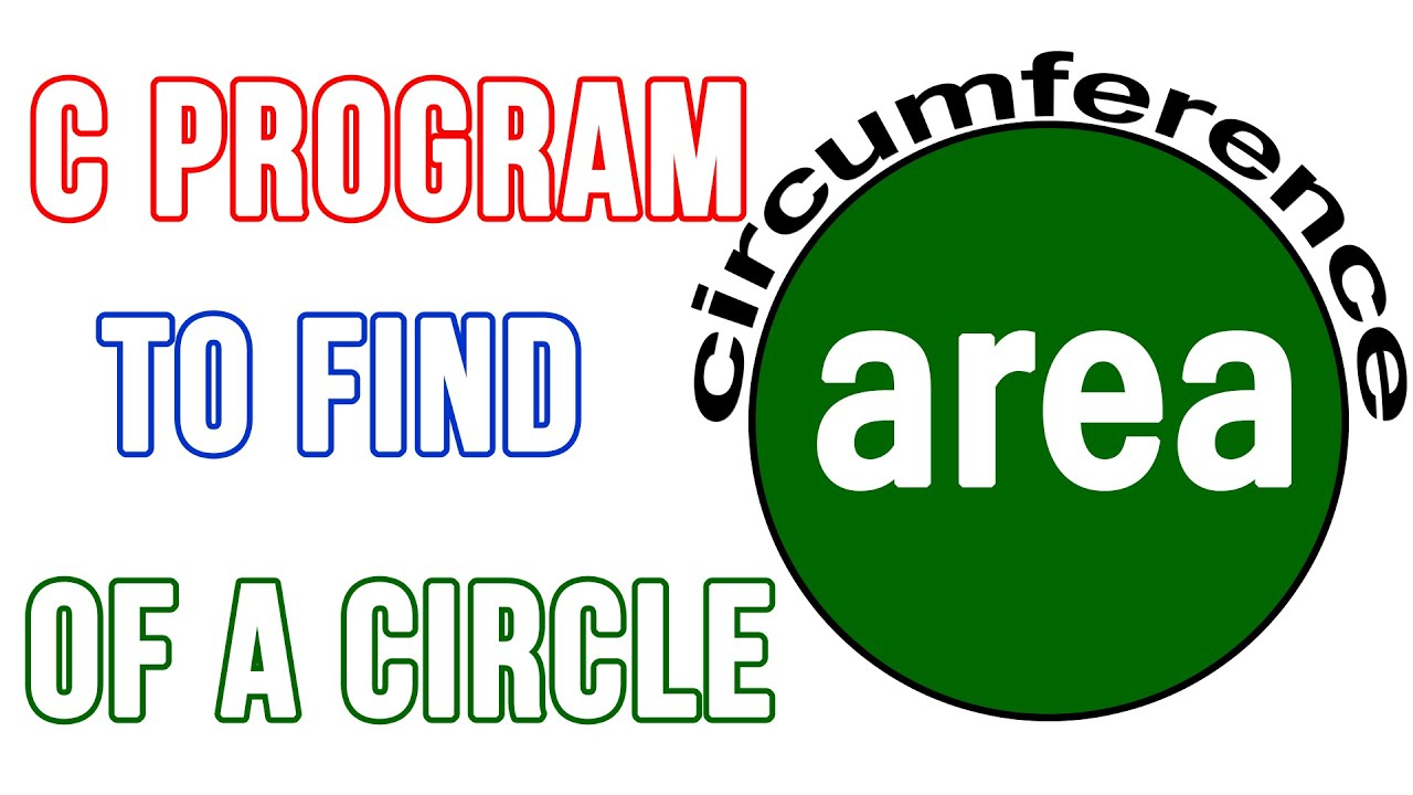 C++ Program To Find Area And Circumference  Of A Circle