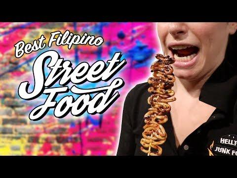 We Try FILIPINO'S Most FAMOUS Street Food!! Feat. Kwek Kwek, Isaw, Dynamite, Walkman, Betamax etc.