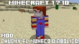 Minecraft 1.7.10 MOD CHUCKY EL MUÑECO DIABÓLICO! Chucky The Killer Doll Mod Español!