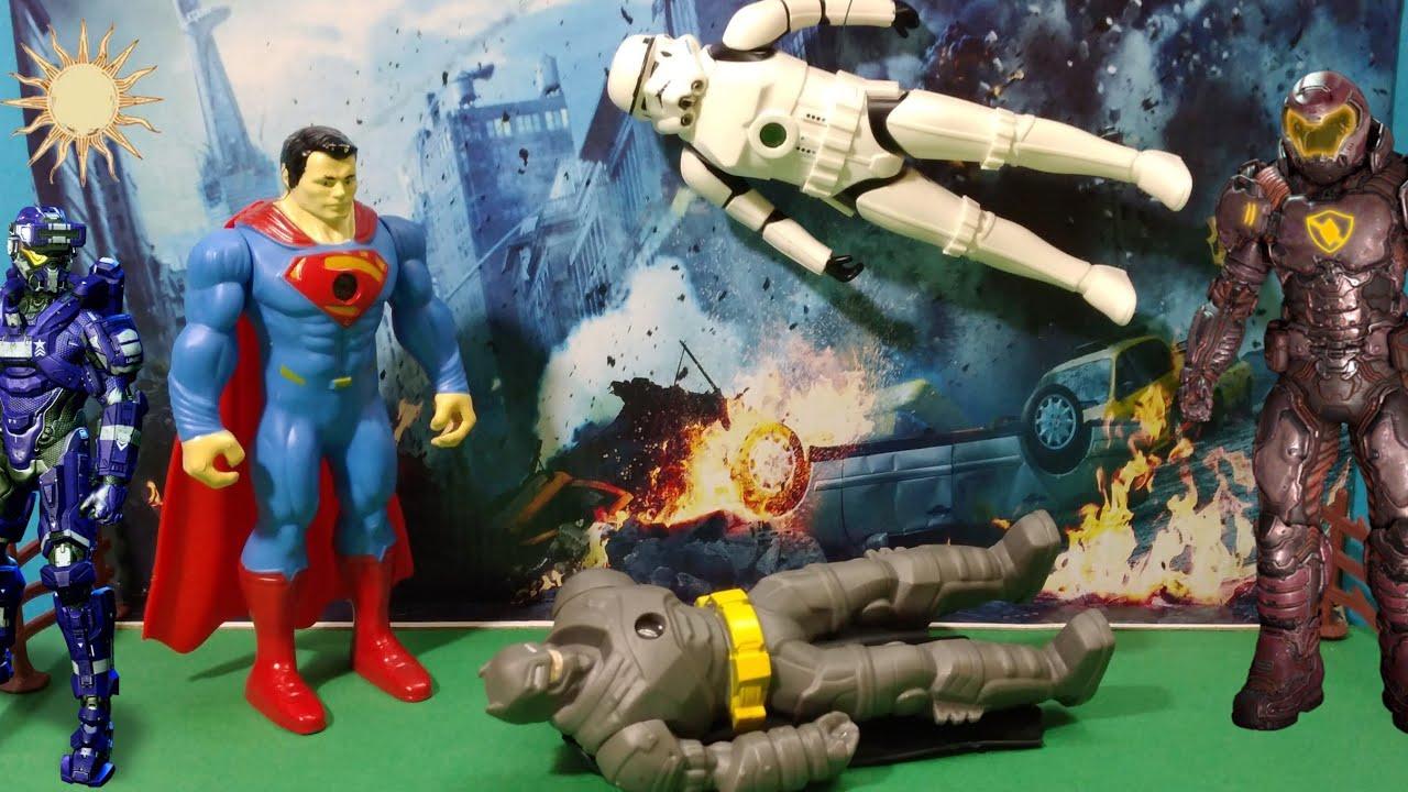 الفضائيين دخلوا المدينة / super man save the world
