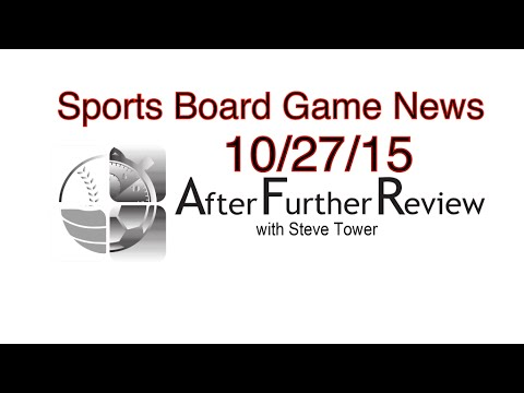 AFR Sports Board Game  News For 10/27/15.  PLAAY.com, Dynasty League Baseball Online.