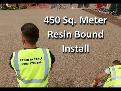 How to lay a 450 sq meter RESIN BOUND Car park in 2days by Resin Install.