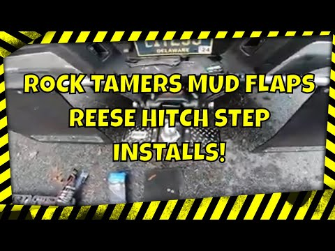ROCK TAMERS MUD FLAP SYSTEM - REESE HITCH STEP INSTALLS !!