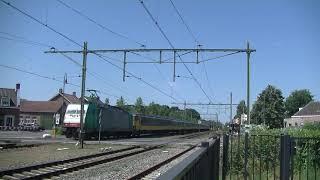 Traxx met ICRmh en Traxx komen langs Gilze Rijen.