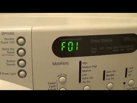 Whirlpool Dryer F 01 Error How To Replace The Control Board
