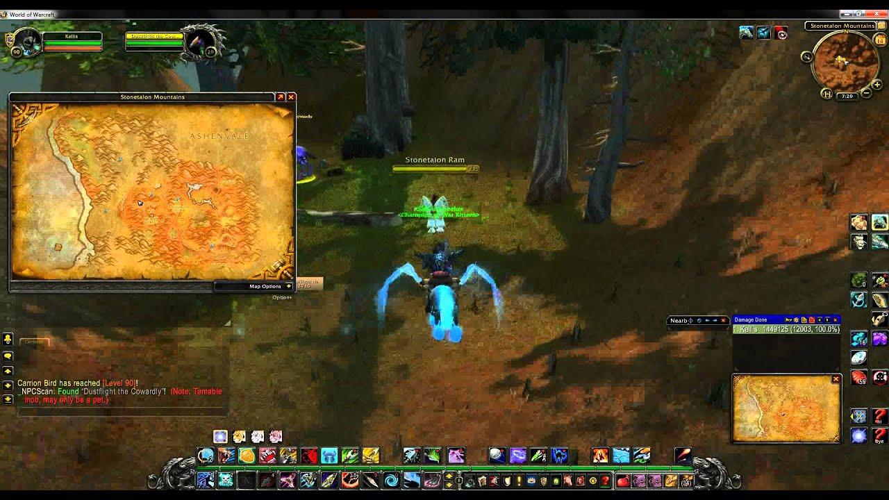 World Of Warcraft Rare Hunter Pet Locations Stonetalon Mountains Youtube