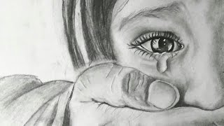 Realistic pencil sketch | Time-lapse | 3 working hours in 3 min.