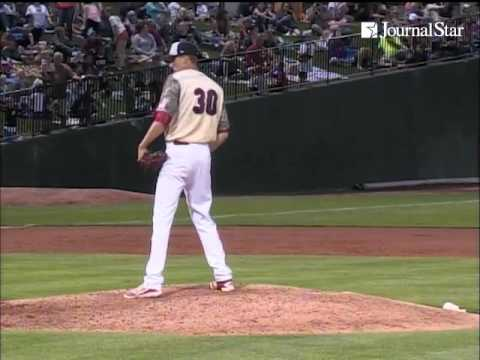 VIDEO: Brother Bray, RHP Tyler for Chiefs, CF Colin for Kane County, face each other for first time