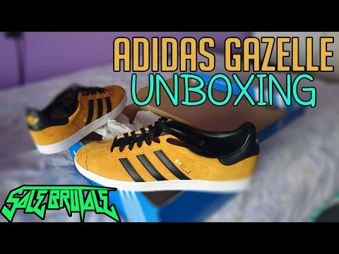 Adidas Originals Gazelle - Gold Black unboxing