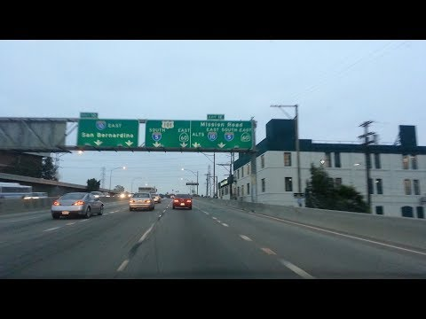 Driving on LA freeways to Westridge Golf Club