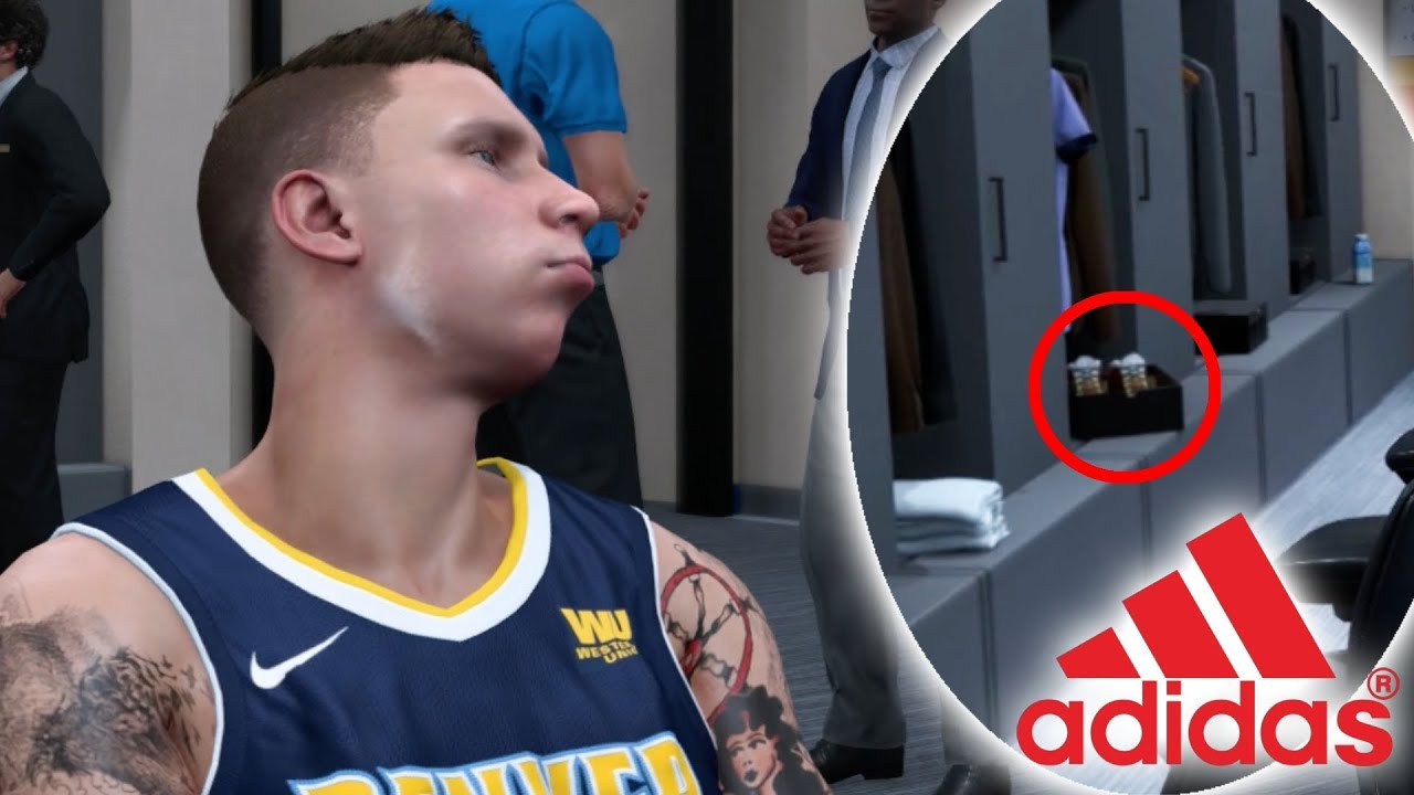 ADIDAS SURPRISES ME WITH SHOES AT MY LOCKER BEFORE GAME! NBA 2K18 Player  Career #4