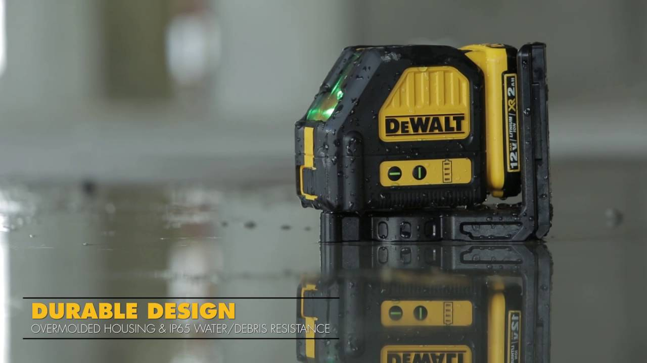 dewalt dw089lg 12v max 3 x 360 green line laser youtube. Black Bedroom Furniture Sets. Home Design Ideas