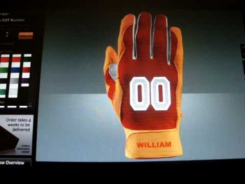 palm logo batting gloves