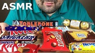 ASMR:CHOCOLATE EATING (Eating Sounds) Mukbang *NO TALKING*   Russian ASMR