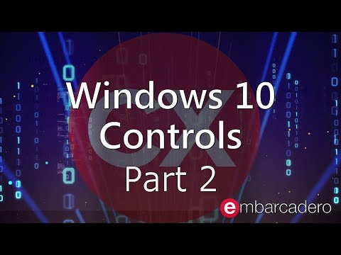 Windows 10 VCL Controls for C++ Developers: Part 2