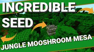 The Best Minecraft Seed? So Much Near Spawn | Jungle Ravines Temples & More Avomance 2019
