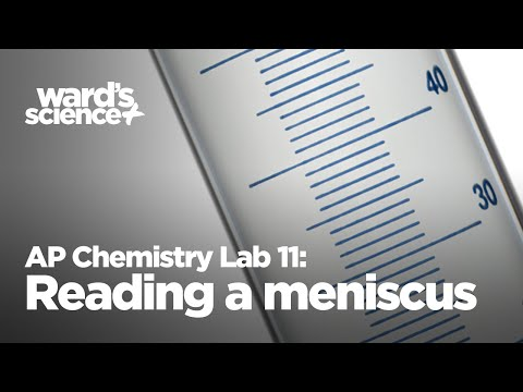 AP Chemistry Lab 11 - Reading A Meniscus