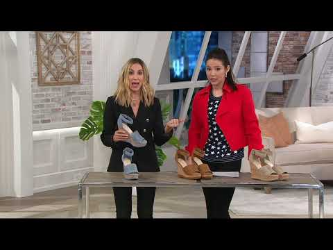Marc Fisher Suede Ankle Strap Wedges - Hillana On QVC