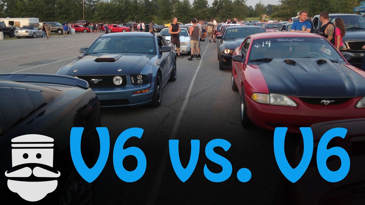 Vs V6 S197 Drag Race- Mustang Sn95
