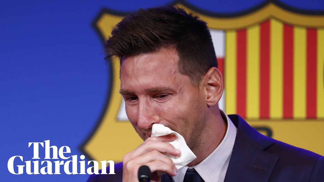 Download 'I am here to say goodbye': Lionel Messi tearful as Barcelona exit looms