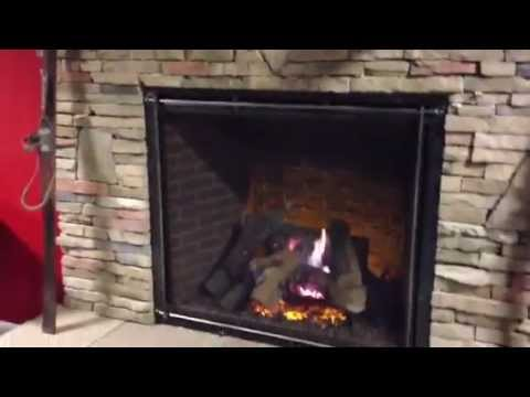 Heat-N-Glo TRUE 42 Direct Vent Gas Fireplace - YouTube