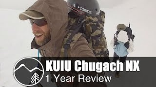 KUIU Chugach NX rain jacket 1 year review - Mountain Venture
