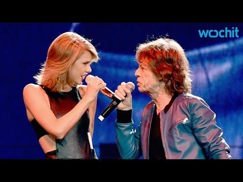 Taylor Swift Mick Jagger Sing Satisfaction In Nashville Youtube
