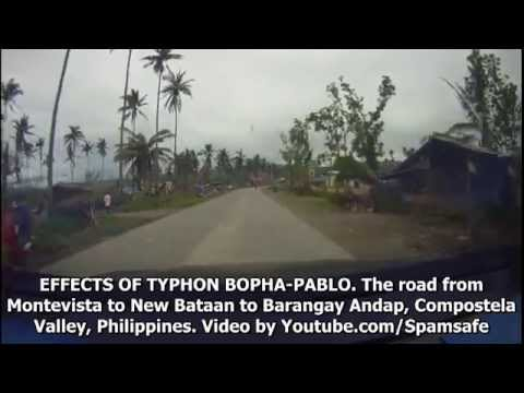 Typhoon Pablo: Virtual Driving from Montevista to New Bataan Andap Compostela Province