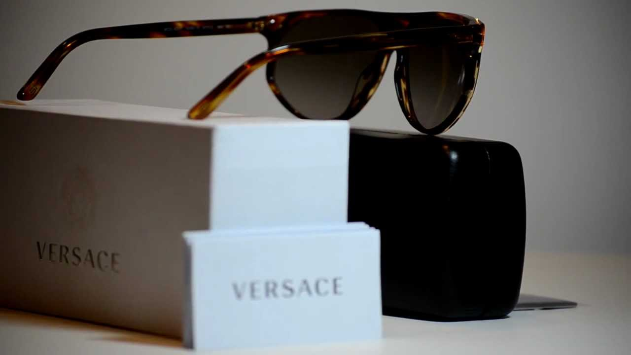 54484125a0c New Hot Authentic Versace Sunglasses VE4240 502513 VE 4240 Brown Made In  Italy