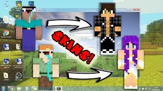 COMO COLOCAR SKIN NO MINECRAFT PIRATA - 2017!