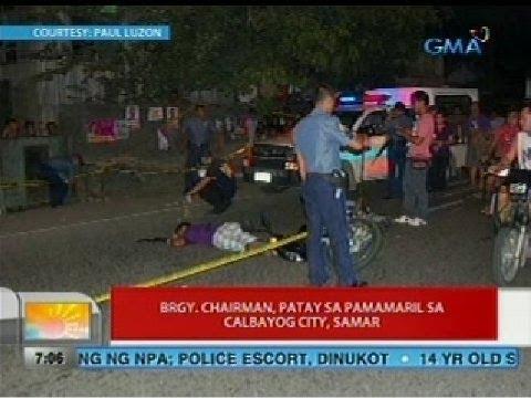 UB: Brgy. Chairman, patay sa pamamaril sa Calbayog City, Samar