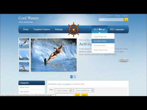 Joomla 2.5 Template: JM Cool Waters
