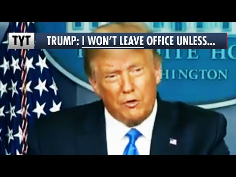 BREAKING: Trump Says He Won't Leave Office UNLESS...