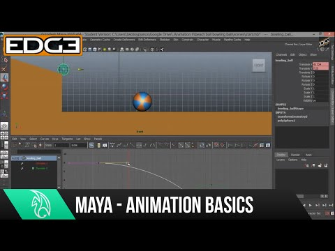 Maya Animation Tutorial for Beginners - Bouncing Balls, Heavy and Light HD