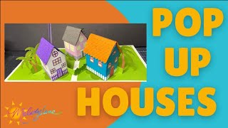 Pop Up Houses Cards with Cricut