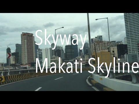 Makati Skyline from Skyway Alabang to Makati by HourPhilippines.com