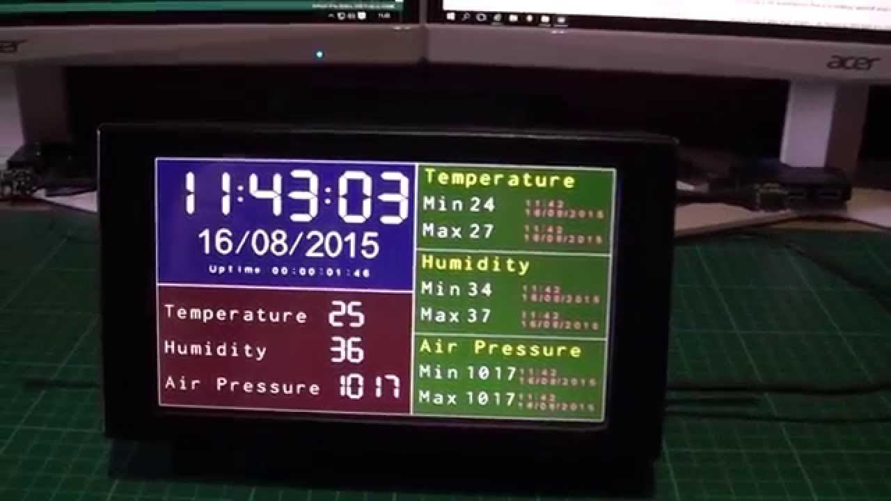 Arduino due quot lcd weather station project youtube