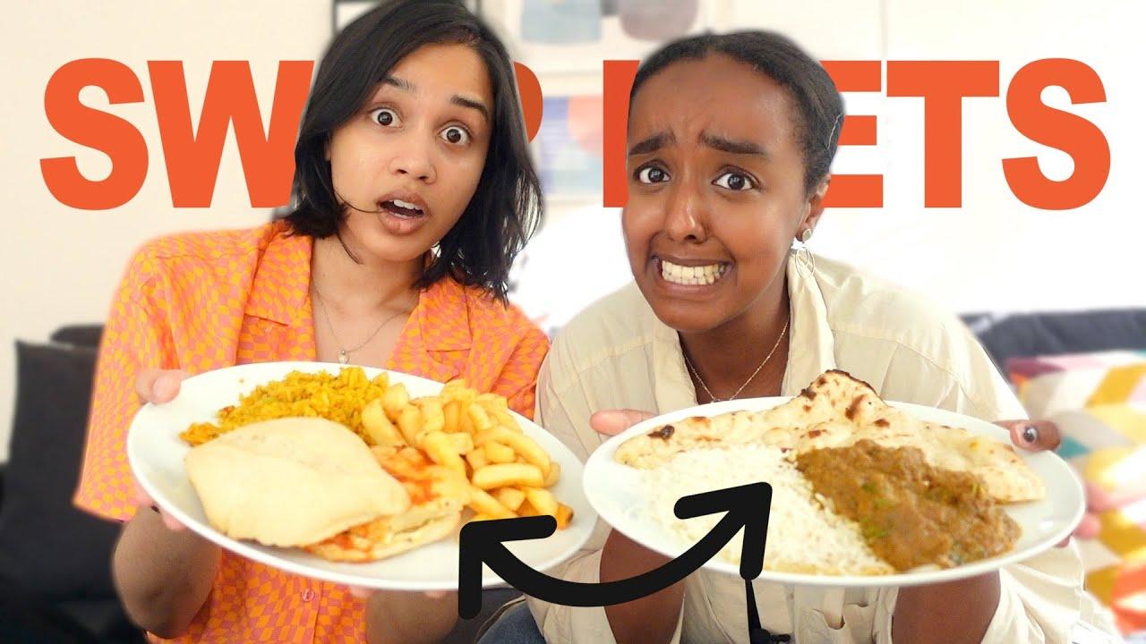 BEST FRIENDS SWAP DIETS FOR 24 HOURS | clickfortaz