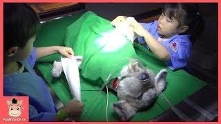 의사 된 미니? 진짜 수술하다! 강아지 다리 다쳤어요 ♡ 의사놀이 병원놀이 경찰놀이 리쏘빌 키즈카페 테마파크 직업체험 hospital | 말이야와아이들 MariAndKids