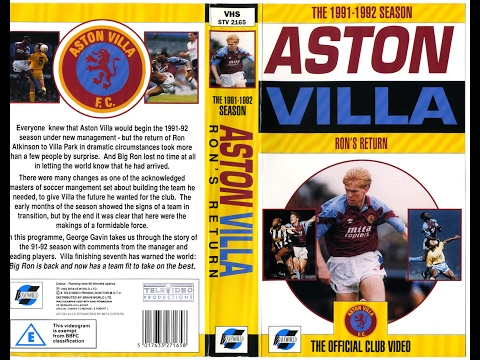 Aston Villa Season Review 1991 - 1992