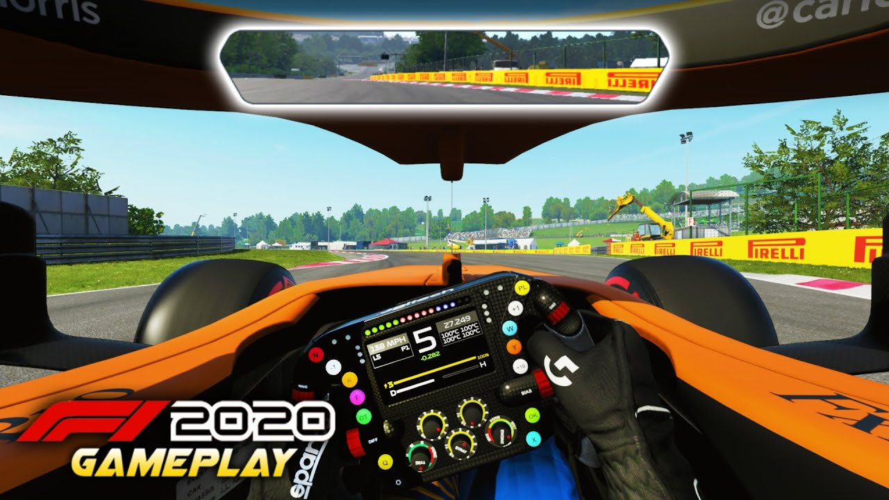 F1 2020 Gameplay New Cockpit Rear View Mirror Hud Options Iracing Vibes Youtube