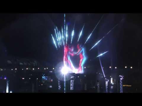 Vivid Sydney 2016 - Water-screen lighting at Darling Harbour