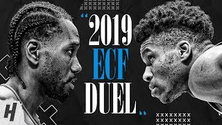 Kawhi Leonard vs Giannis Antetokounmpo BEST DUEL Highlights, 1-on-1 Plays from 2019 Eastern Finals! thumbnail