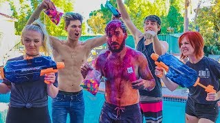 DYEING HAIR WITH WATER BALLOONS! (Gone Wrong)