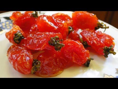 Mứt cà chua tomato jam  - cách làm mứt cà chua dẻo mới lạ chuẩn bị đón tết mậu tuất