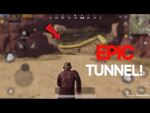 How To Find The Underground Tunnel!   PUBG Mobile   Secret Location Desert Map