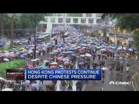 Hong Kong protests continue despite Chinese pressure
