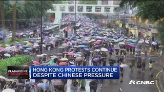 Hong Kong protests continue despite Chinese pressure