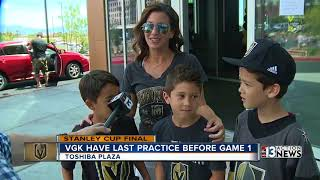 Golden Knights have last practice before Stanley Cup Game 1